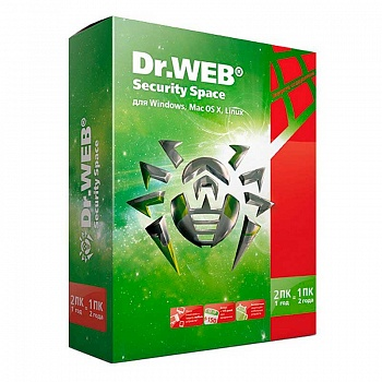 Антивирус Dr.Web PRO для Windows  на 12 мес, на 2 ПК (AHW-A-12M-2A2)