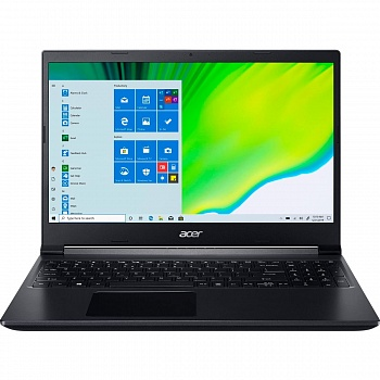"Ноутбук Acer Aspire 7 A715-41G (AMD Ryzen 5 3550H/15.6""/1920x1080/16GB/512GB SSD/DVD нет/NVIDIA GeForce GTX 1650 4GB/Wi-Fi/Bluetooth/Endless OS) - фото"