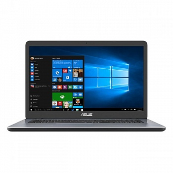"Ноутбук Asus Vivobook 17 X705MB (Intel Pentium N5000 1100 MHz/17.3""/1600x900/4GB/1000GB HDD/DVD нет/NVIDIA GeForce MX110/Wi-Fi/Bluetooth/Windows 10 Home) - фото"